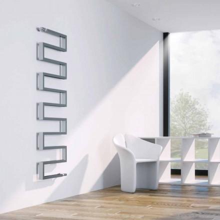 Radiador de água quente vertical moderno com acabamento cromado Snake Scirocco H
