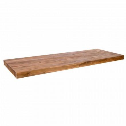 Lavatório suspenso de bancada feito com madeira de teca Norcia
