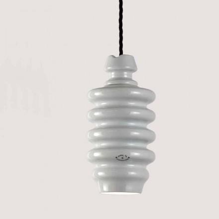 Toscot Battersea luminária de cerâmica branca, design moderno feito na Itália