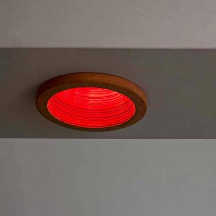 Toscot Carso luz embutida Ø14 feita na Toscana
