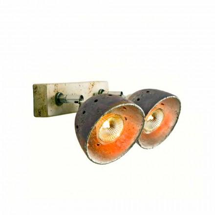 Refletor em terracota Toscot Noceto com 2 luzes direcionais