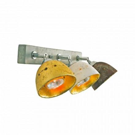 Holofote Toscot Noceto com 3 luzes direcionais fabricadas na Toscana