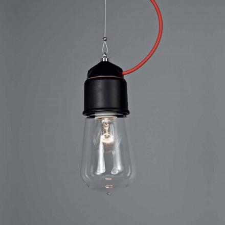 Luz pingente de solteiro artesanal Toscot Novecento c / copa