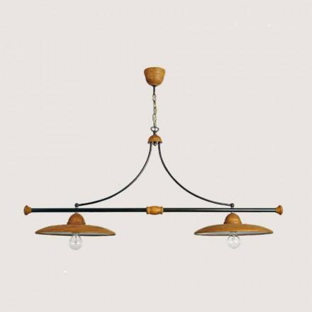 Luz pingente de terracota artesanal Toscot Settimello