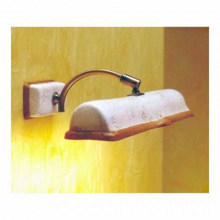 Toscot Vinci handmade terracota lâmpada de parede 2 luzes
