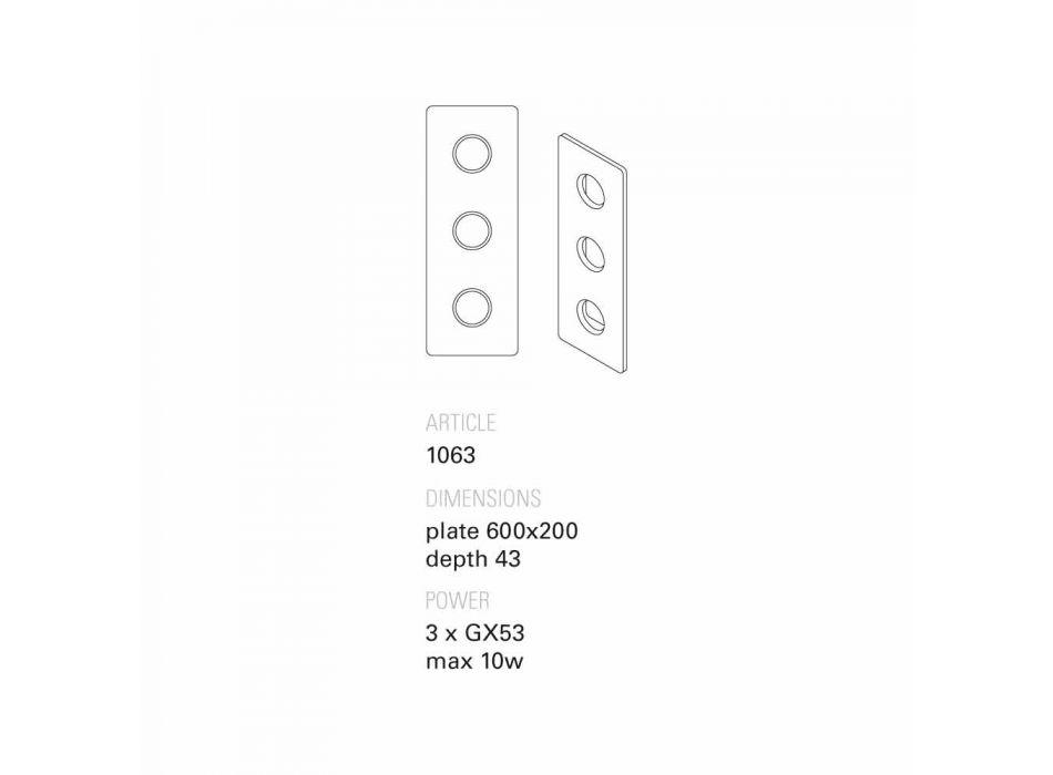 Aplique de terracota designer Toscot Vivaldi made in Italy