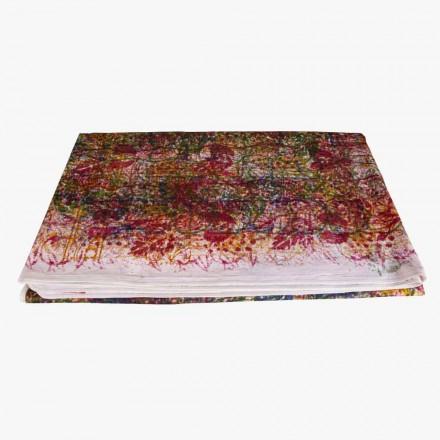 Toalha de mesa de algodão artesanal Peça artesanal com estampa exclusiva - Viadurini by Marchi