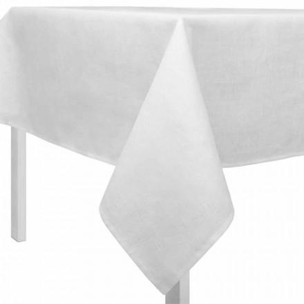 Toalha de mesa retangular ou quadrada branca creme fabricada na Itália - Blessy
