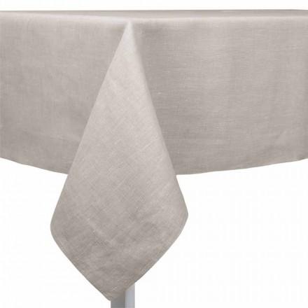Toalha de mesa de linho natural, retangular ou quadrada fabricada em Itália - papoula