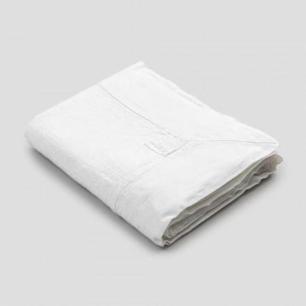 Toalha de mesa retangular de linho com renda ou renda branca, design luxuoso - Davinci