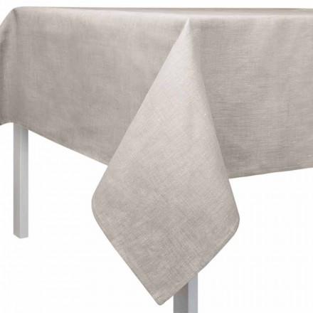 Toalha de mesa retangular ou quadrada de cor natural fabricada na Itália - Blessy