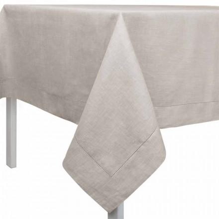 Toalha de mesa retangular ou quadrada em linho natural fabricado em Itália - Chiana