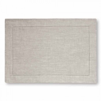 American Placemat em Pure White ou Natural Linen Made in Italy - Chiana