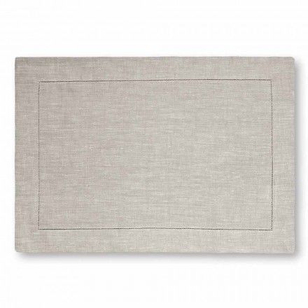 American Placemat em Pure White ou Natural Linen Made in Italy, 2 peças - Chiana