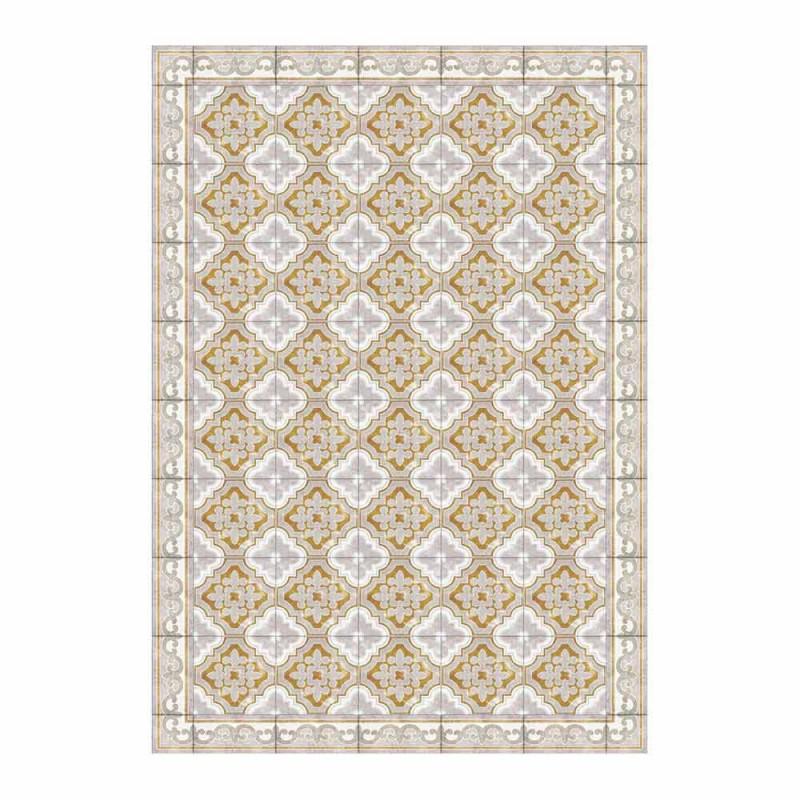 American Placemat em Pvc e Modern Colored Polyester, 6 peças - Dorado