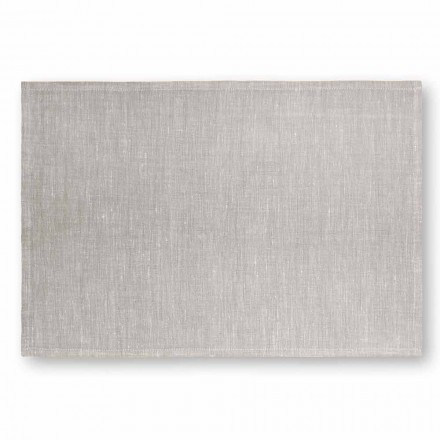 Placemat em Cream White ou Natural Linen Made in Italy, 2 peças - Blessy