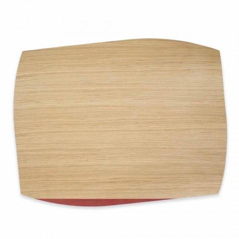 Individual de mesa retangular moderno em madeira de carvalho fabricado na Itália - Abraham