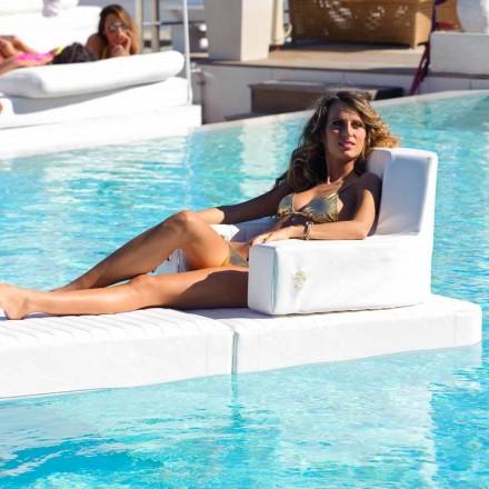 Espreguiçadeira flutuante da piscina Trona, cor branca, fabricada na Itália