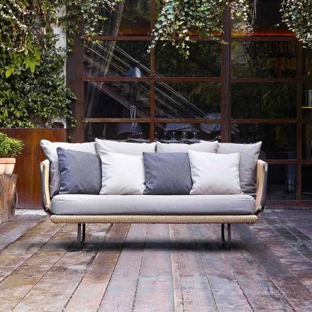 Sofá de jardim de design moderno 2 lugares com travesseiros Babylon by Varaschin