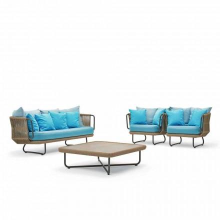 Conjunto de conversa ao ar livre, design moderno, Babylon by Varaschin