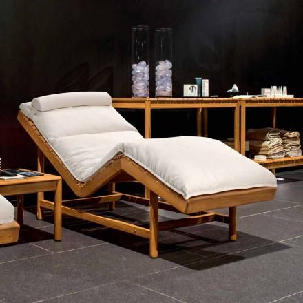Design moderno ao ar livre chaise longue mande de teca Barcode by Varaschin