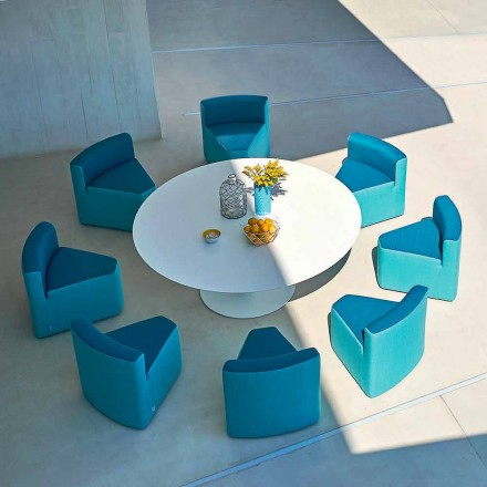 Mesa de jardim + 8 poltronas, design moderno, In & Out by Varaschin