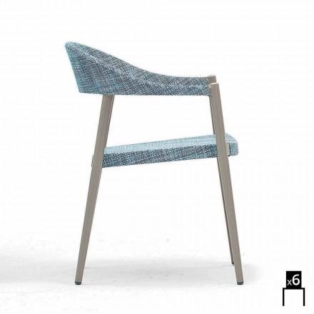 Moderna cadeira ao ar livre com braços, conjunto de 6 cadeiras Clever by Varaschin