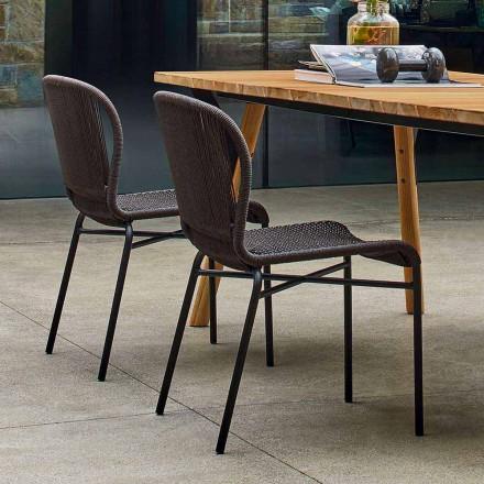 Cadeira de jantar ao ar livre com design moderno, conjunto de 2, Cricket by Varaschin