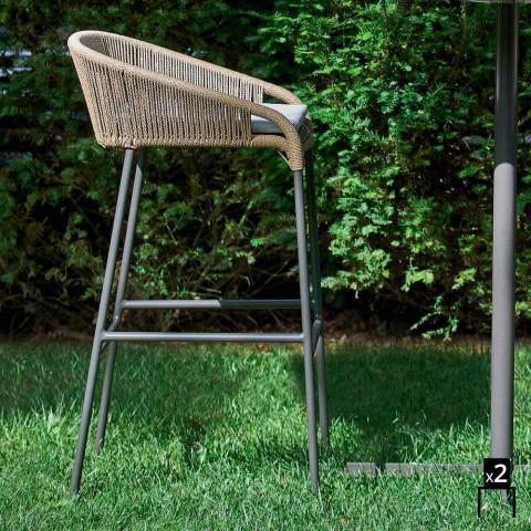 Varaschin Cricket fezes design contemporâneo jardim, 2 peças