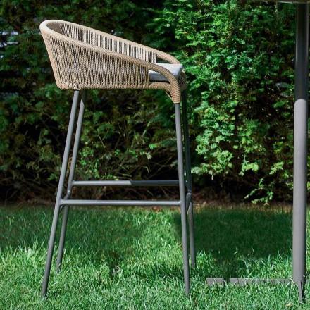 Banqueta de jardim design moderno, conjunto de 2 cadeiras Cricket by Vondom