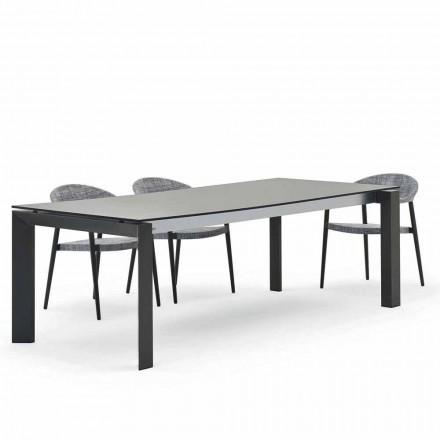 Mesa de jantar ao ar livre 240x100 cm, design moderno, Dolmen by Varaschin