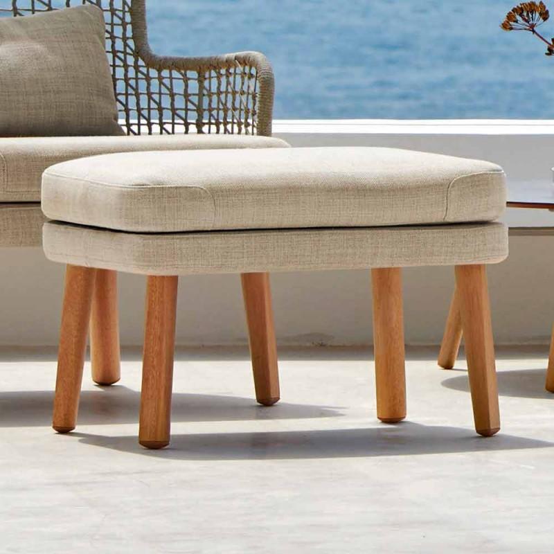 Varaschin Emma design de apoio para pés ao ar livre em tecido estofado