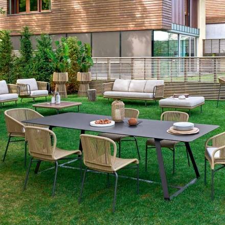 Mesa de jantar ao ar livre, muitas medidas disponíveis, Kolonaki Varaschi