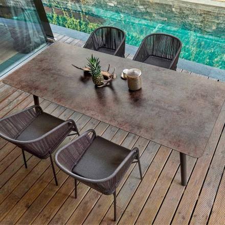 Mesa de jantar de exterior / interior H65, design moderno, Link by Varaschin