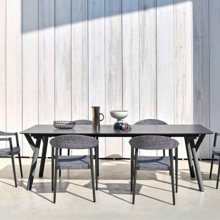 Mesa de jantar ao ar livre H 75 cm com um design moderno, Link by Varaschin