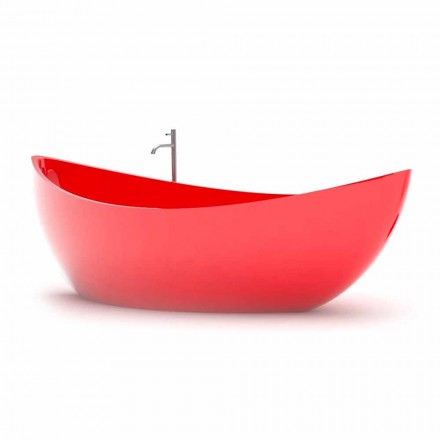 Banheira de design moderno Funamori, feita de Solid Surface, fabricada na Itália