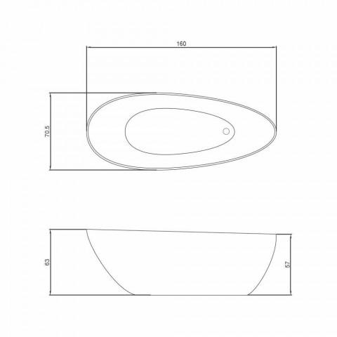 Banheira de hidromassagem design autônomo feito na Itália Albenga