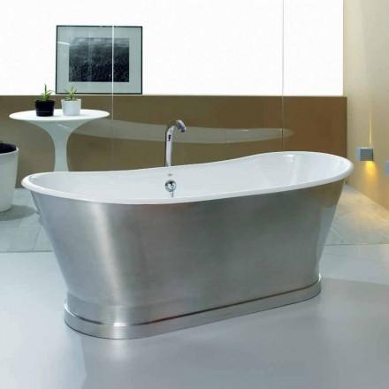 Banheira para fixação de piso em ferro fundido vintage Romeo