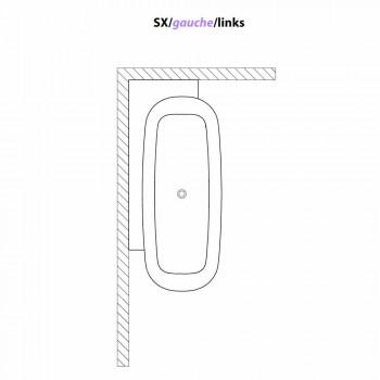Banheira autônoma de design moderno em branco - Lipperiavas1