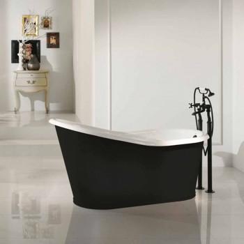 Projeto de banho independente autoportante pintado ferro velho