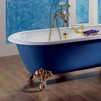 Banheira de ferro fundido autônomo pintado com pés de Diane