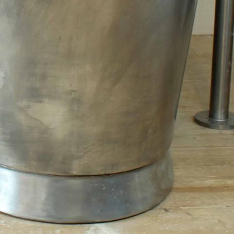 Banho de cobre autônoma banheira acabado em níquel Julia