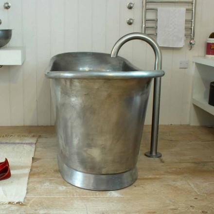 Banheira autônoma de cobre com acabamento em ferro branco vintage Julia