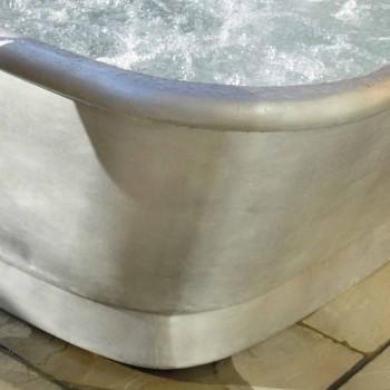 Banheira autônoma cobre revestido de ferro branco Annie