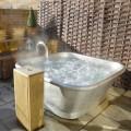 Banheira autônoma de cobre vintage coberta com ferro branco Annie