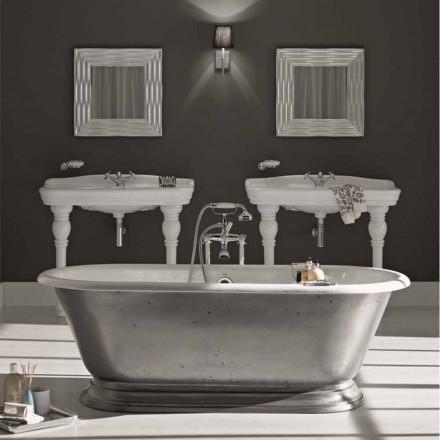 Banheira em ferro fundido com acabamento brilhante vintage Pierce