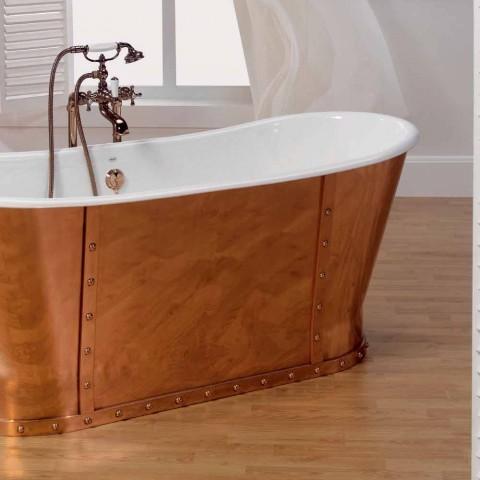 Banheiras de ferro fundido exterior em cobre Henry