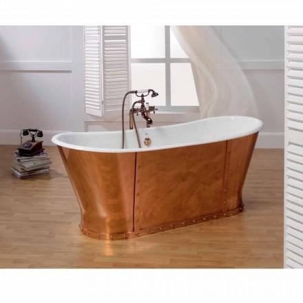 Banheira vintage de ferro fundido com revestimento externo de cobre Henry