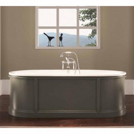 Banheira vintage em ferro fundido esmaltado e pintado Ashley