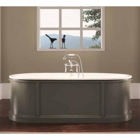 Banheira em ferro fundido esmaltado e pintado Ashley